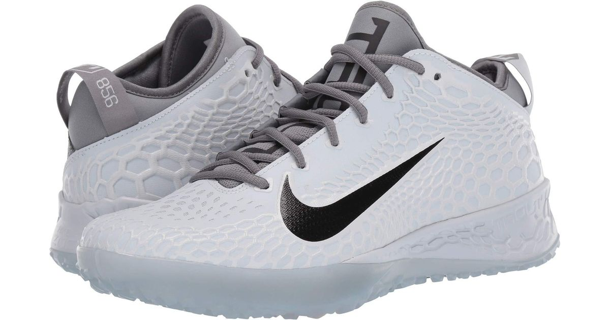 d2d5baf16 Nike Force Zoom Trout 5 Turf (white black) Men s Cleated Shoes in Gray for  Men - Lyst
