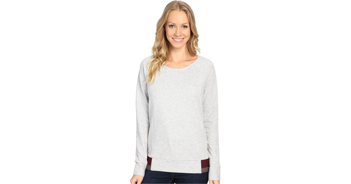 0d7206f5d12 Lyst - The North Face Street Lounge Crew (tnf Oatmeal Heather (prior  Season)) Women s Long Sleeve Pullover in Gray