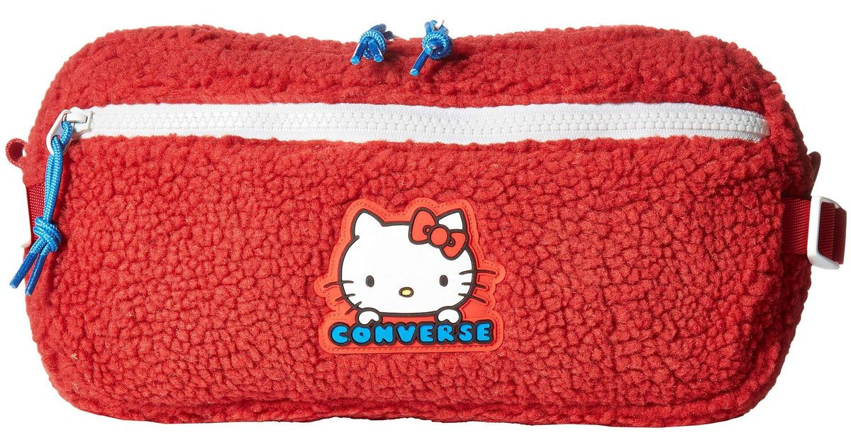 77b775e77bb Lyst - Converse X Hello Kitty Hip Pack (fiery Red) Handbags in Red