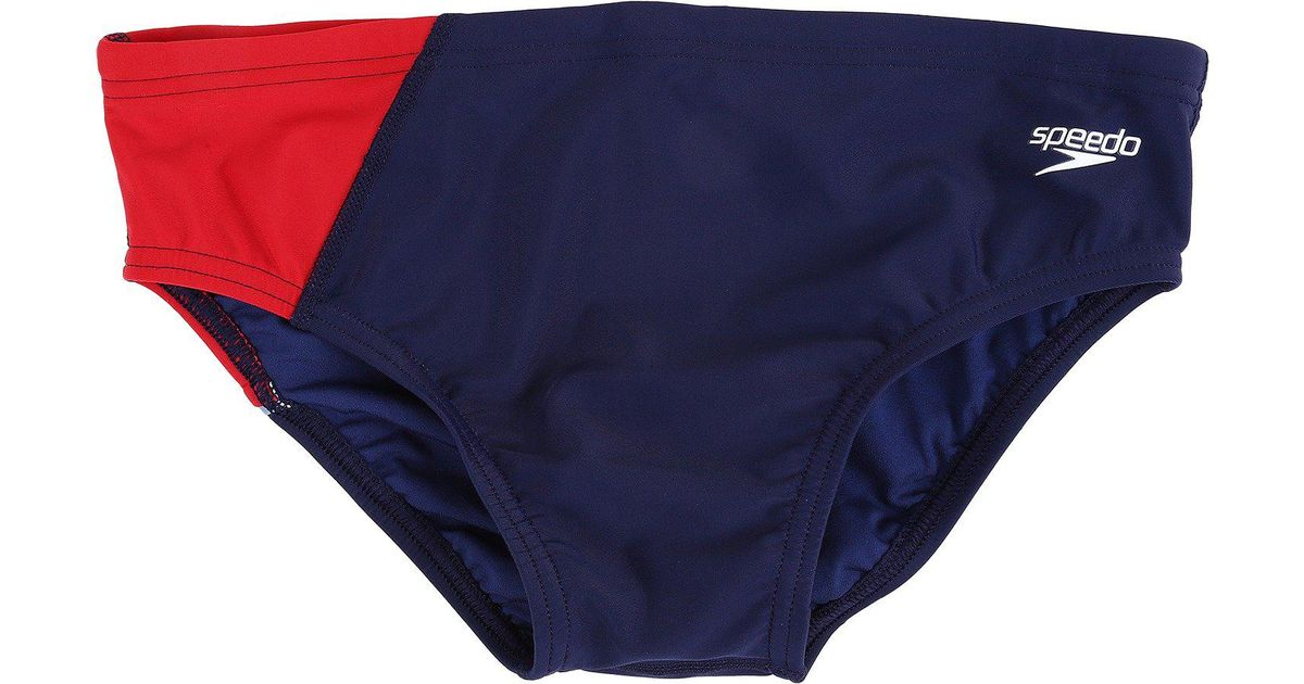 41fed64ecb Lyst - Speedo Revolve Splice Brief (navy/red) Men's Swimwear in Blue for Men