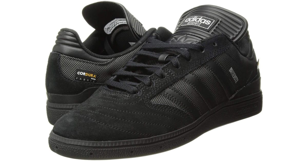 5b7a5cfed5335 ... sweden lyst adidas originals busenitz pro black white metallic gold  mens skate shoes in black for