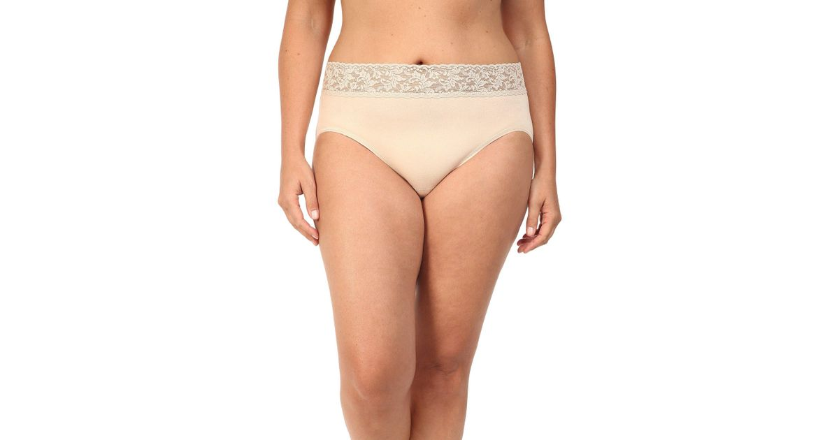 305d7241b7d9 Hanky Panky Plus Size Organic Cotton Signature Lace French Brief (white)  Women's Underwear in Natural - Lyst