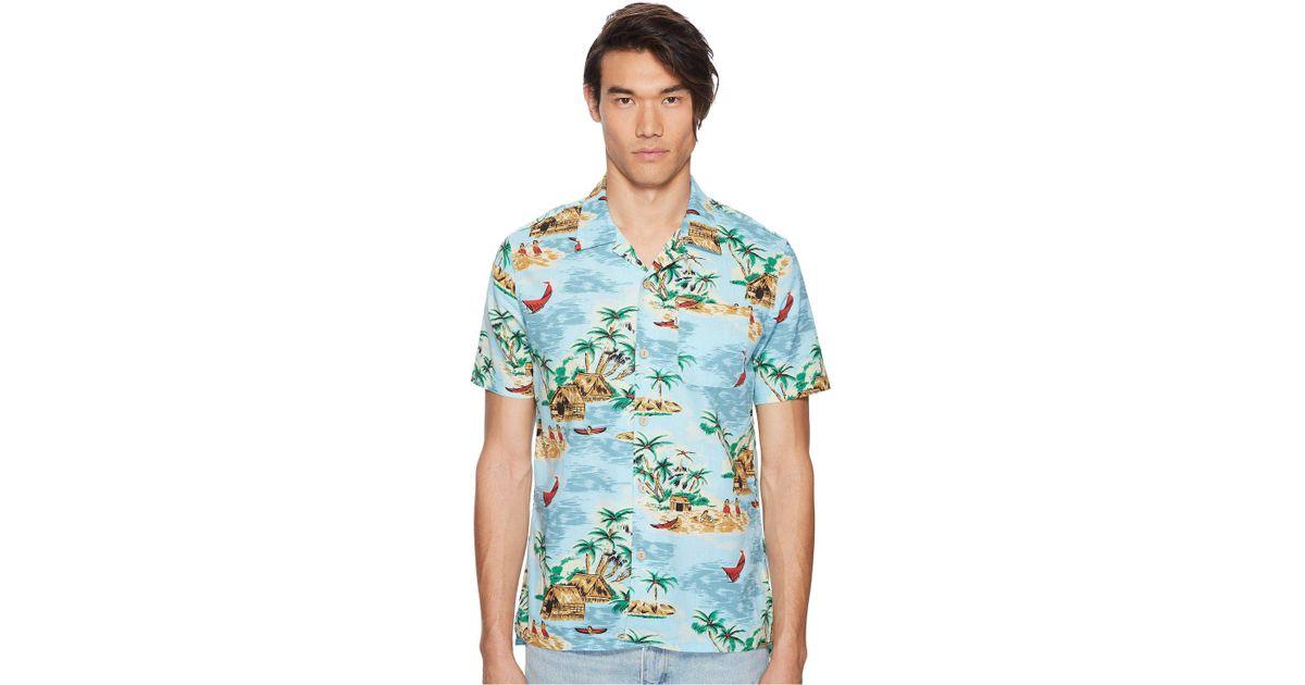 1de1877d Levi's Premium Premium Short Sleeve Linen Hawaiian Shirt in Blue for Men -  Lyst