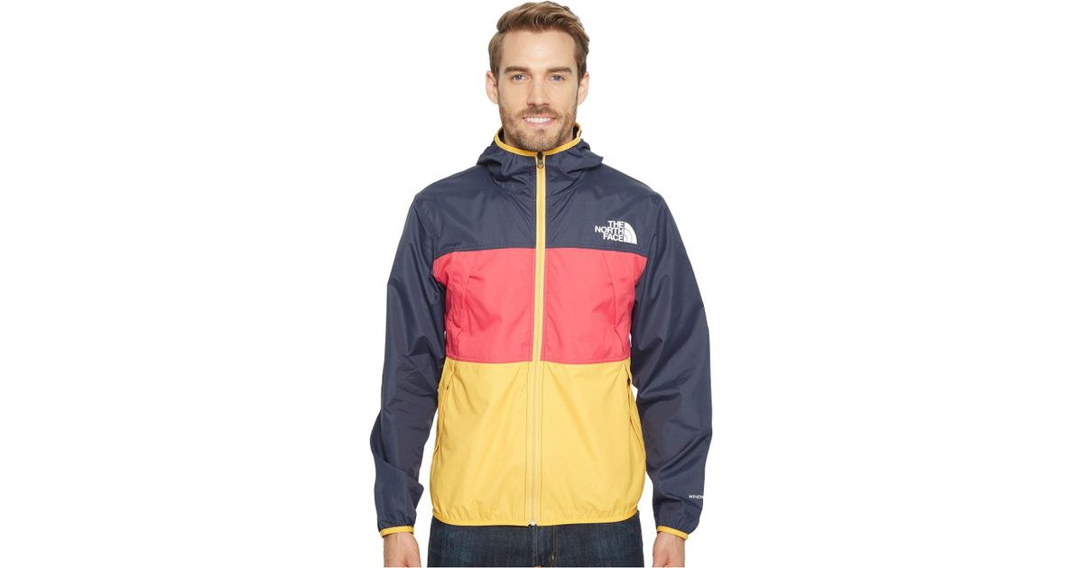 55fd968661 Lyst - The North Face Telegraph Wind Jacket (urban Navy raspberry Red tnf  Yellow) Men s Coat in Blue for Men