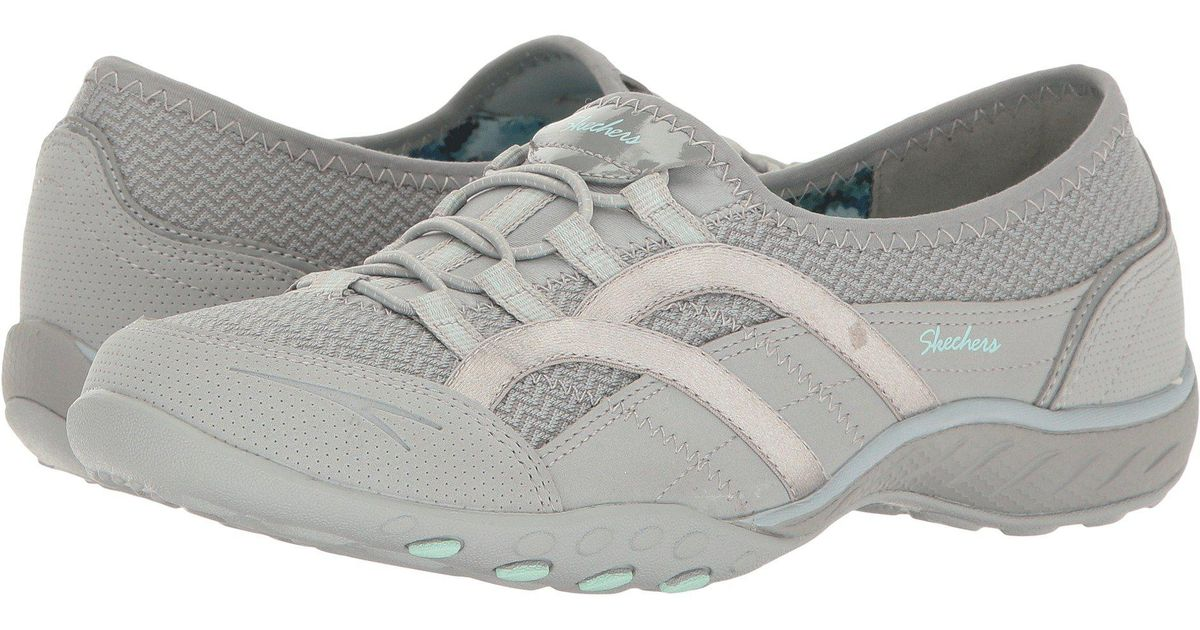 095b4d50cf2f Lyst - Skechers Breathe-easy - Faithful (black) Women s Lace Up Casual  Shoes in Gray