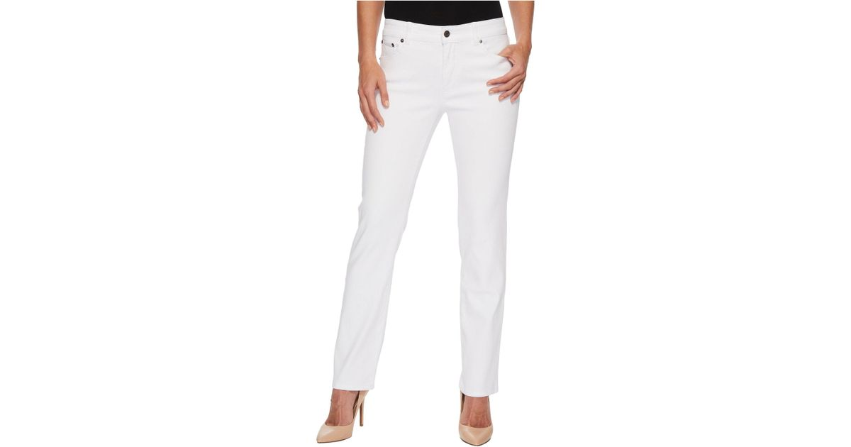 bf8df20b2f0 Lyst - Lauren by Ralph Lauren Premier Straight Jeans (white) Women s Jeans  in White