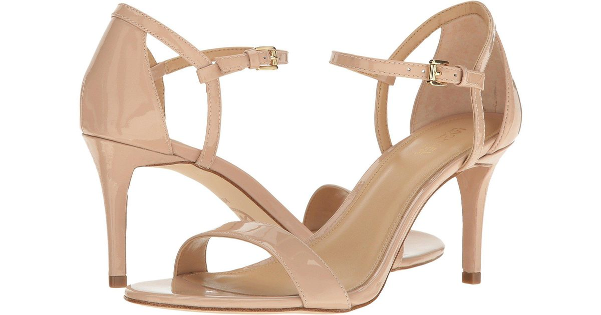 062ae5973d78 Lyst - MICHAEL Michael Kors Simone Mid Sandal (black Patent) Women s Sandals  in Natural - Save 61%