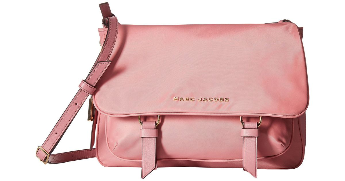 27ed3bf4cb51 Lyst - Marc Jacobs Zip That Small Messenger in Pink