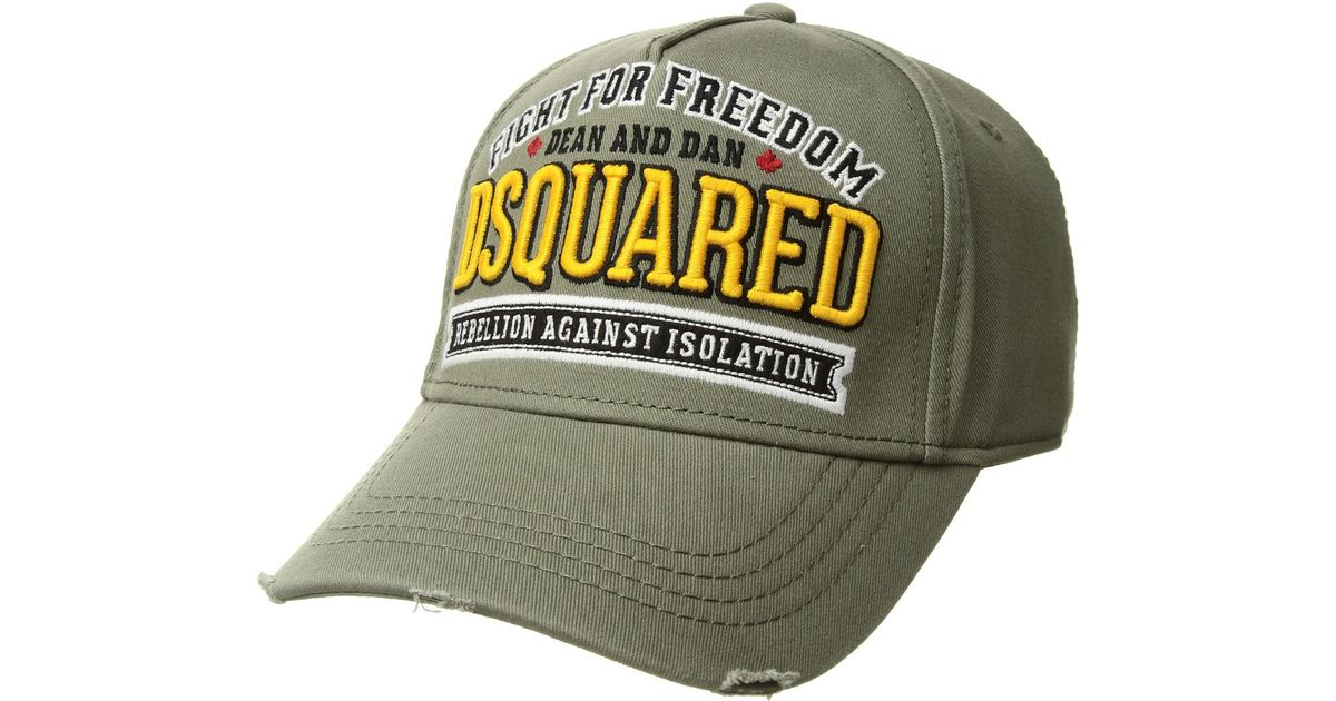 bc103ca56f3529 DSquared² Fight For Freedom Baseball Cap in Green for Men - Lyst