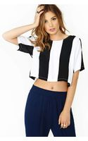 Nasty Gal Motel Petro Crop Top - Lyst