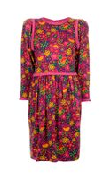 Yves Saint Laurent Vintage Floral Print Dress - Lyst