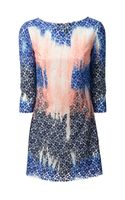MSGM Lace Dye Shift Dress - Lyst