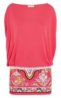 Emilio Pucci Printed Stretch Jersey Top - Lyst