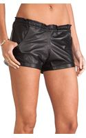 Tylie Leather Riding Shorts