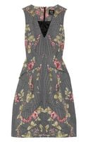 McQ by Alexander McQueen Printed Cottonblend Faille Dress - Lyst