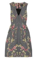 McQ by Alexander McQueen Printed Cottonblend Faille Dress
