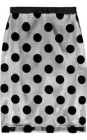 Lulu & Co Polkadot Flockedtulle and Satin Skirt - Lyst