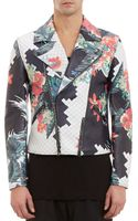3.1 Phillip Lim Floralprint Leather Moto Jacket - Lyst