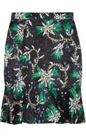 Mary Katrantzou Genero Flared Jewelprint Satin Skirt