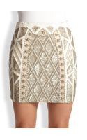 Needle & Thread Geo Sundown Embellished Mini Skirt - Lyst