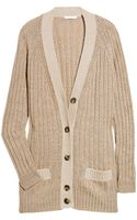 Chloé Wool-blend Ribbed Cardigan