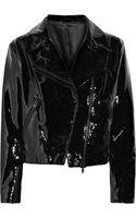 Acne Rita Patent-leather Biker Jacket