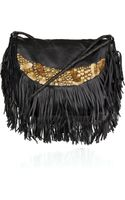 Antik Batik Bongo Embellished Leather Shoulder Bag