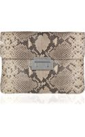 Michael by Michael Kors Sloan Oversized Pythoneffect Leather Clutch