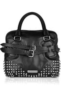 Burberry Studded Leather Bowling Bag