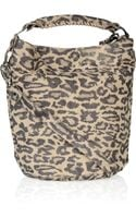 Be & D Leopard-print Leather Tote
