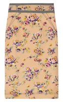 Z Spoke by Zac Posen Floral-print Cotton and Silk-blend Pencil Skirt - Lyst
