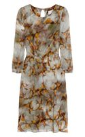 Erdem Angelica Swallow-print Silk Dress - Lyst
