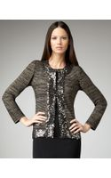 Misook Collection Sequin-trim Lurex Jacket