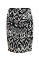 Thakoon Feather Print Ruffle Front Skirt