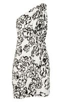 Robert Rodriguez One-shoulder Sequined Silk Dress - Lyst