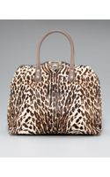 Valentino Rockstud Animal-print Dome Bag