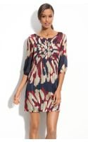 Eci Print Chiffon Shift Dress - Lyst