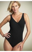 Gottex Mikado Surplice One-piece Swimsuit