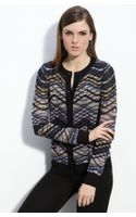 M Missoni Plaid Stripe Cardigan