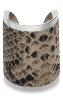 Michael by Michael Kors Michael Kors Large Embossed Leather Cuff