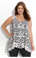 Rachel Pally Button Front Print Tank (plus) - Lyst