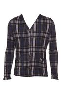 Christopher Kane Tartan Silk-cashmere Knit Cardigan