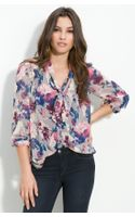 Bellatrix Tie Neck Sheer Chiffon Blouse - Lyst
