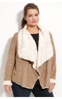 Bernardo Faux Shearling Jacket (plus)