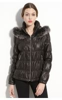 Royal Underground Hooded Puffer Jacket with Genuine Fox Fur Trim - Lyst