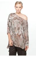 Rag & Bone Botany Top in Feather Print
