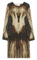 McQ by Alexander McQueen Phantom Print Silk Dress