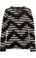 Proenza Schouler Tie-dye Striped Cotton-jersey Top