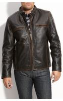 Marc New York Leather Motorcycle Jacket - Lyst