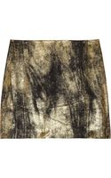 Clemens En August Metallic Silk-crepe Mini Skirt